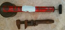 "Vintage W&B Pipe Wrench  8 1/4"" J.H. Williams Co. & Smith Bug Sprayer (h14)"