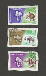 Romania  SC 1887+ CTO Prehistoric Animals