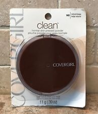 CoverGirl ~ Clean Normal Skin Pressed Face Powder 140 NATURAL BEIGE .39oz SEALED