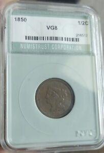 1850 Braided Hair Half Cent NTC VG Rare!!!