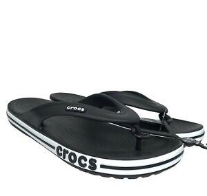 Crocs Mens Bayaband Flip comfy stylish sandals water friendly Lightweight Black