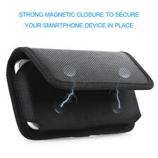 Case Cover Pouch Horizontal Flip Belt Clip Holster for Large XL Phones Universal
