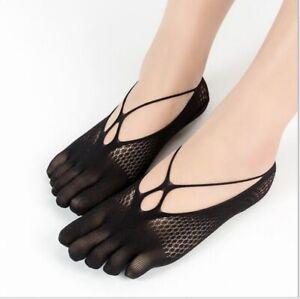 Orthopaedic Compression Socks Lace Women Toe Socks Low Cut Liner with Gel Tab