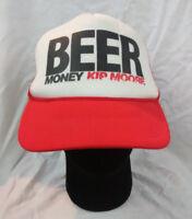 Kip Moore Beer Money Trucker Mesh Hat Snapback Red Black White Adjustable