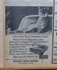1967 newspaper ad for Mercury -  Cougar Celebration Sale, Mercury The Man's Car