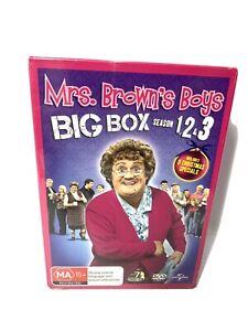 Mrs. Brown's Boys Big Box Season 1 , 2 & 3 + 3 Xmas Specials 7 Disc Set Reg 4