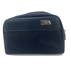 TUMI for Delta Small Black Zip Pouch Soft Sided Travel/Toiletries Bag-With Acce.