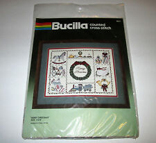NEW #82311 Bucilla -Merry Christmas- Counted Cross Stitch Kit 11 x 14