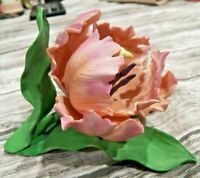 Lenox Parrot Tulip Fine Porcelain Sculpture Garden Flower Figurine 1989