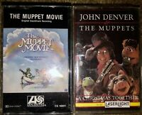 BOTH THE MUPPETS ORIGINAL SOUNDTRACK & JOHN DENVER A CHRISTMAS CASSETTE TAPES