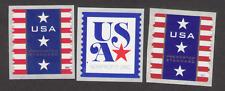 US. 4157,4158, 5172. (5c &10c). USA, Patriotic Nonprofit Coils. Lot of 3. MNH