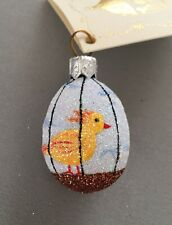 "Patricia Breen 2007 ""Song Bird Mini Egg� blown glass Easter ornament – Mint!"