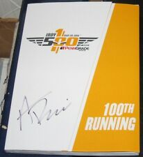 Alexander Rossi 2016 Indianapolis 500 Champ SIGNED 100th Running Program COA