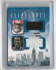 DEION SANDERS / DOMINIQUE WILKINS 2008 SPORTS KINGS CITYSCAPES GAME JERSEY #2/5