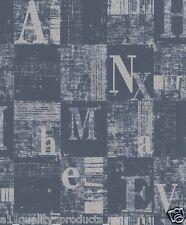 Rasch Papier peint,Ville Lumières,bleu argenté,texturé Art Moderne Design BN