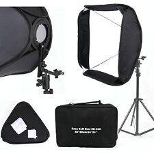 "FOTGA Pro Portable 24"" 60x60cm White Flash Speedlight Softbox Photo Bracket Kit"