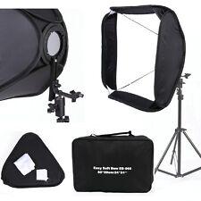 "FOTGA Pro Portable 24"" 60x60cm White Flash Speedlight Softbox Photo Bracket Kit"