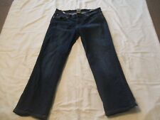 Lucky Brand Dungarees Midrise Flare Sz 10 Dark Wash