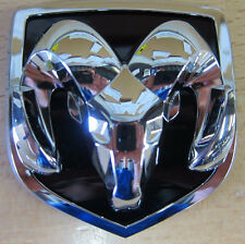 Dodge Hood Grille Black Logo Chrome 3D Vehicle Emblem Decal Sticker Vehicle