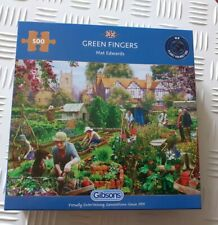 Gibsons Green Fingers Mat Edward's 500 Piece Jigsaw Puzzle Toy USED