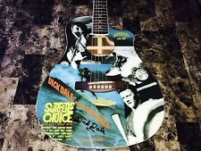 Dick Dale Signed Limited Edition Fender Malibu Acoustic Electric Guitar Surfer