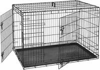 "Midwest 1536DDU iCrate Folding Metal 22""-48"" Double Door Pet Dog Crate Kennel"