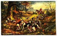 Cartolina Cani – Fox Hunting – Drawing The Covert