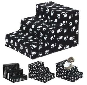 Pet Dog Stairs 3 Steps Ladder For Puppy Cat Stair Anti-slip Puppy Dogs Bed Stair
