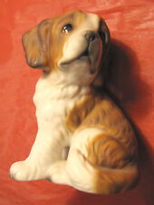Statuina cane San Bernardo Bernard dog HR J21C82 miniatura cucciolo in ceramica