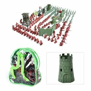238pcs PlasticToy Military Soldiers Army Combat Platoon Story Party Men Figures