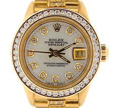 Ladies Rolex SOLID 18K Yellow Gold Datejust President Diamond Dial, Bezel & Band