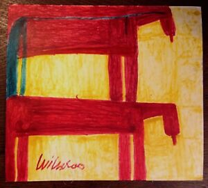 Willie White Folk Art  OutsiderAfrican-American Two Red Horses painting #316