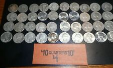 90% silver quarter roll of various types, dates & mint marks  #4