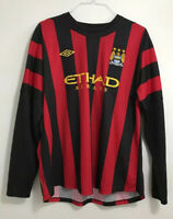 "Men's Manchester City away football shirt size 50"" long sleeves Umbro 2011-2012"