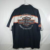 Harley-Davidson Mens XL Mechanic Button Up Short Sleeve Shirt