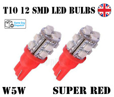 2X T10 CANBUS LED BULBS RED 501 CAR SIDELIGHTS INTERIOR AUDI BMW FORD MERCEDES