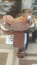 Blue Ribbon 15.5 western show saddle w/ silver