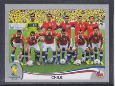 Panini-Brasil 2014 World Cup - # 147 Chile Equipo Grupo-Platinum