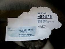The Face Shop BLANCLOUDING White Moisture Cream Sample Rare HTF Korean Beauty