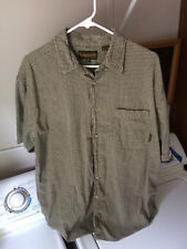Timberland Mens LARGE Gray Shortsleeve buttonfront