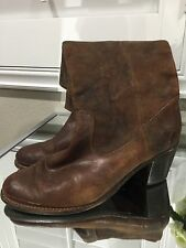 FRYE 'Jackie Button' Leather Riding Boot (Women) Size 9, Cognac
