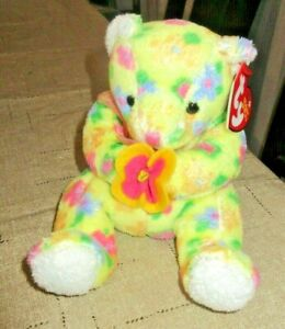 TY Beanie Baby Bloom the Bear DOB April 29, 2003  MWMT Free Shipping