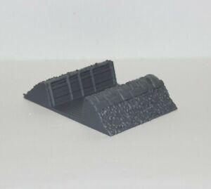 Trench Line Straight Sandbags 3D Printed 1:100 1:87 1:72 1:48 1:35