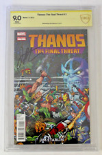 CBCS Graded 9.0 Thanos, The Final Threat No. 1, 2012,  Signed Jim Starlin, VF/NM
