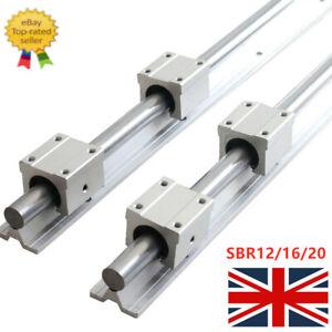 2XSBR12/16/20 Linear Rails Supported Sliding Guide + 4XSBR12/16/20/UU Block CNC