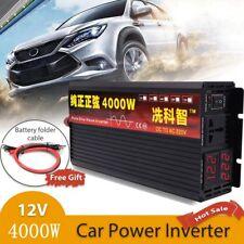 4000W Pure Sine Wave Inverter 12V to 230V Car Power Inverter Double LED Display