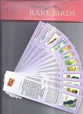 Bookmarks depicting stamps RARE BIRDS  theme