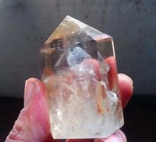 "176g Magic NATURAL white Ghost ""Pyramid"" Quartz Cluster Crystal Point Specimen"