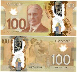 "Canada 100 Dollars 2012 (2021) UNC ""GKP"" Lane-Macklem RADAR"