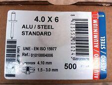 Bralo 4.0mm x 6 Standard Blind Dome Head Aluminium / Steel Pop Rivets
